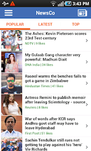 NewsCo: Indian News Summaries - screenshot thumbnail
