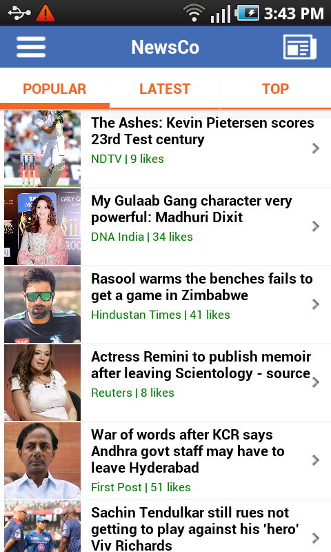 NewsCo: Indian News Summaries - screenshot