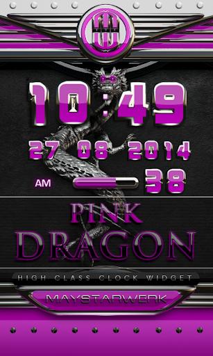 dragon digital clock pink