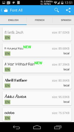 iFont(Expert of Fonts) 5.8.7 screenshots 5
