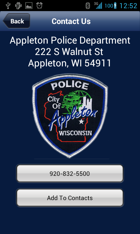 Appleton Police Department - screenshot