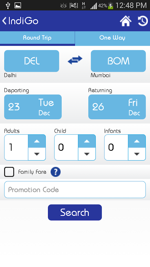 indigo airline booking