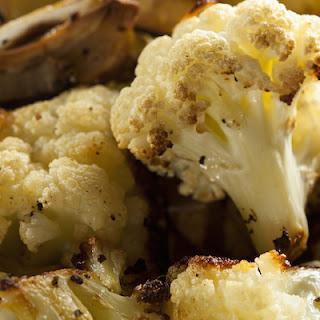 Roasted Cauliflower With Sweet Potato Cream Sauce