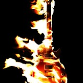 3D burning Guitar
