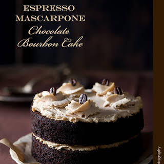 Espresso Mascarpone Chocolate Bourbon Cake.