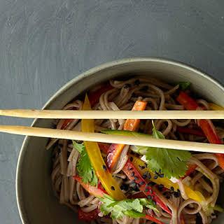 Cold Sesame Noodles with Summer Vegetables.