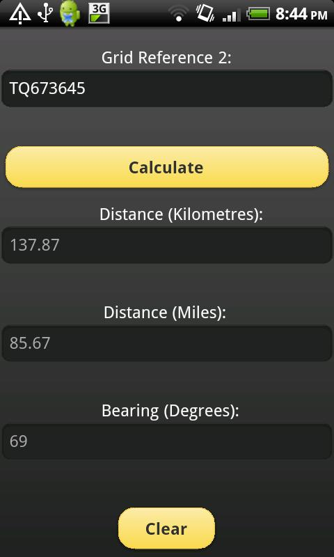 Distance & Bearing Calculator- screenshot