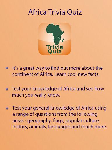 Africa Quiz Trivia