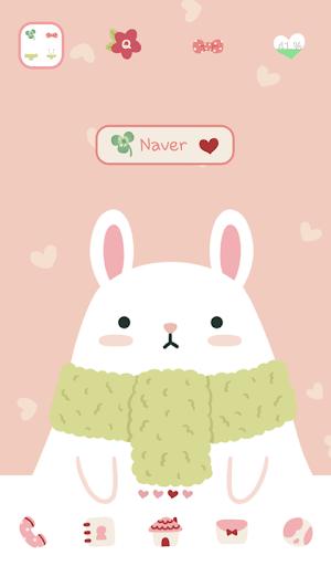 個人化必備APP下載|rabbit and carrot dodol theme 好玩app不花錢|綠色工廠好玩App