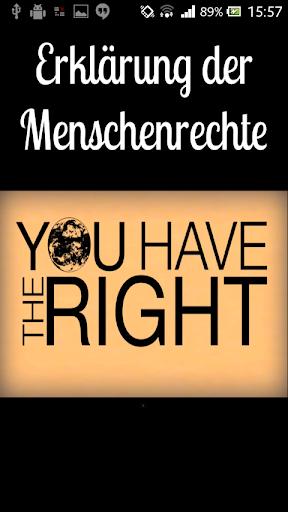 Erklärung der Menschenrechte