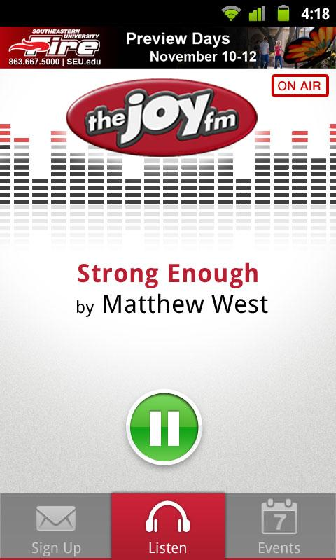 The JOY FM - screenshot