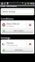 Screenshot of Locale Startup/Shutdown Plugin