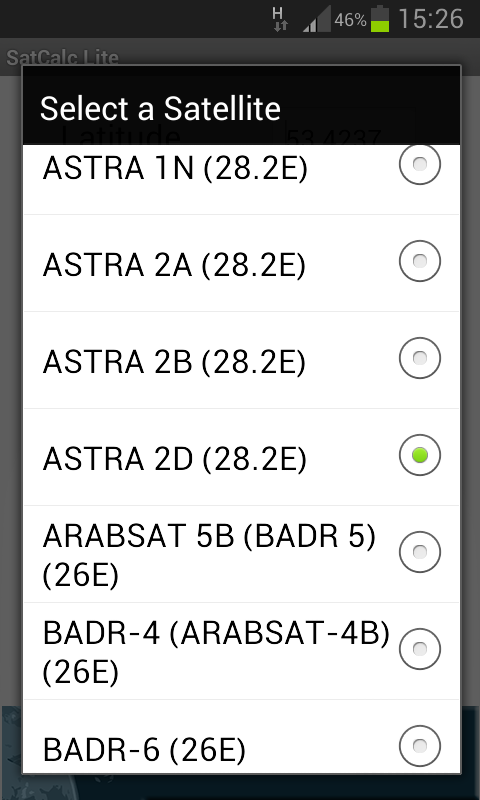 SatCalc Free Satellite Finder - screenshot