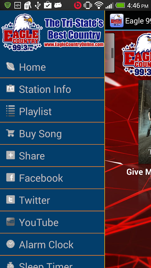 Eagle 99.3 - screenshot