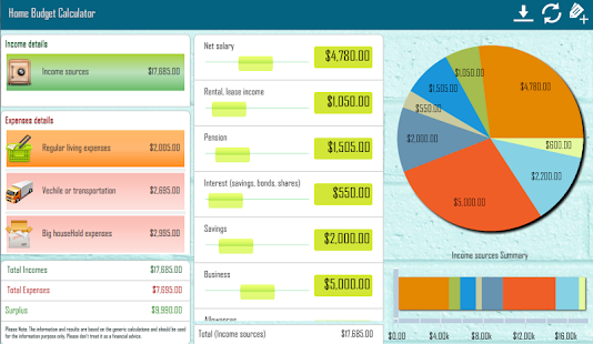 Home Budget Calculator - screenshot thumbnail