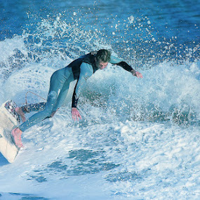 Riding The Surf by Dominick Darrigo - Sports & Fitness Surfing