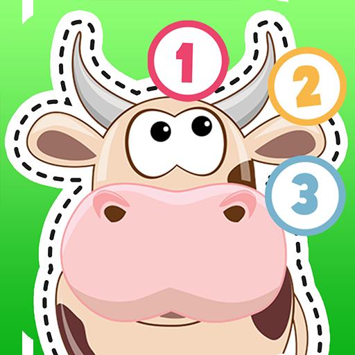 寶貝看圖片找點連線畫畫&學前兒童畫線描農場卡通動物教學 解謎 App LOGO-硬是要APP