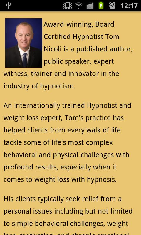 Tom Nicoli Not Another Diet- screenshot