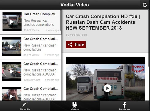 Vodka Video Car Crash Channel