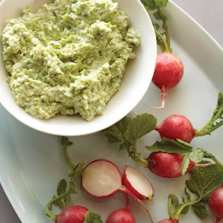 Fava Bean and Goat Cheese Dip with Radishes Recipe