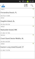 Screenshot of NOAA Buoys Live Marine Weather