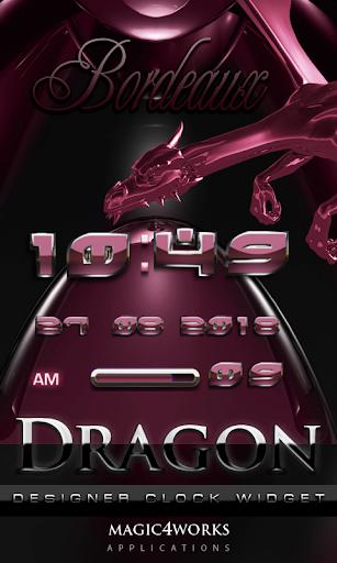 Bordeaux Dragon Digital Clock