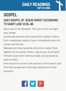 Daily Readings For Catholics Screenshot Thumbnail