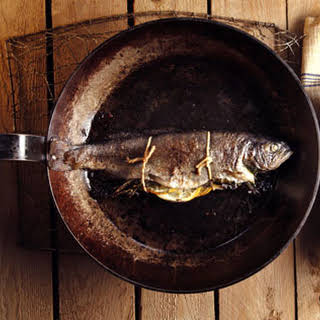 Roasted Rainbow Trout with Lemon and Thyme.