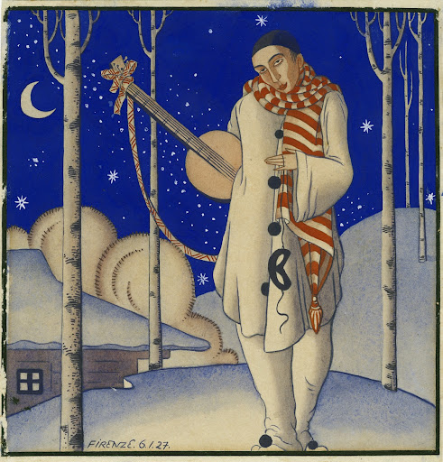 Pierrot in Winter