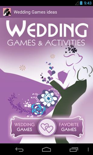 Wedding Games Activities