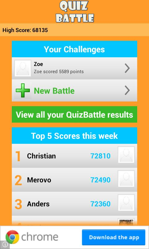 Quiz Battle - screenshot