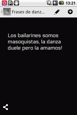 Frases de danza - screenshot