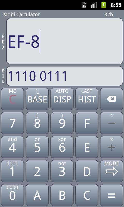 Mobi Calculator PRO - screenshot