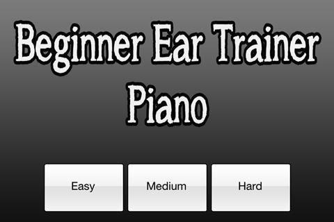 Beginner Ear Trainer: Piano