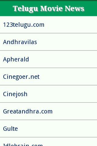 Telugu Movie News Sites