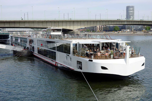 Viking-Ingvi-Cologne - The river cruise ship Viking Ingvi in Cologne, Germany.