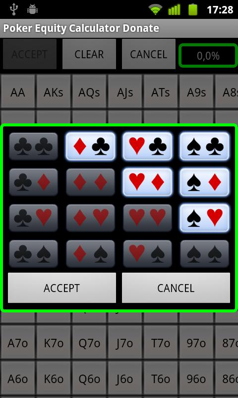 Poker Equity Calculator Pro - screenshot