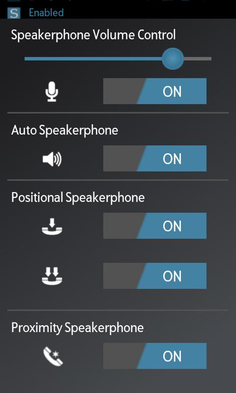 Speakerphone Control - screenshot