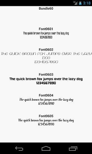 Fonts for FlipFont 60