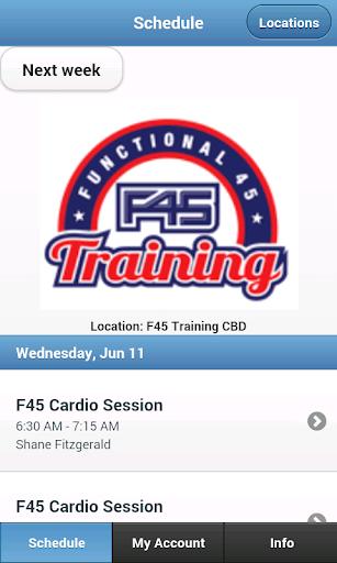 F45 Sydney CBD Class Check in