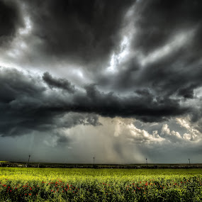 before the storm by Lupu Radu - Landscapes Cloud Formations ( clouds, field, green, sunset, storm, , stormy, weather, #GARYFONGDRAMATICLIGHT, #WTFBOBDAVIS )