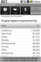 Screenshot of Labor Wage Statistics