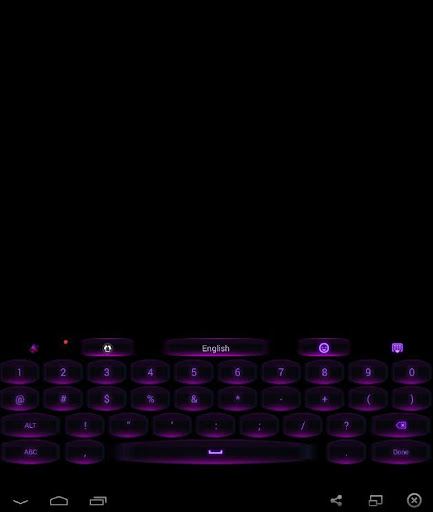 GO Keyboard Black Purple Theme