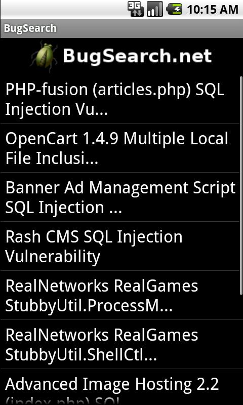 BugSearch FREE- screenshot