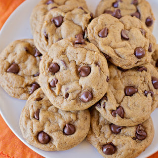 Crisp and Chewy Pumpkin Chocolate Chip Cookies.
