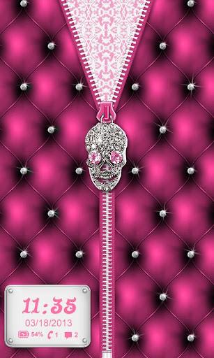 ★ Punk Skull Theme Zipper ★
