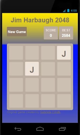 Jim Harbaugh 2048 FREE