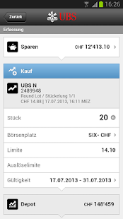 UBS Mobile Banking - screenshot thumbnail
