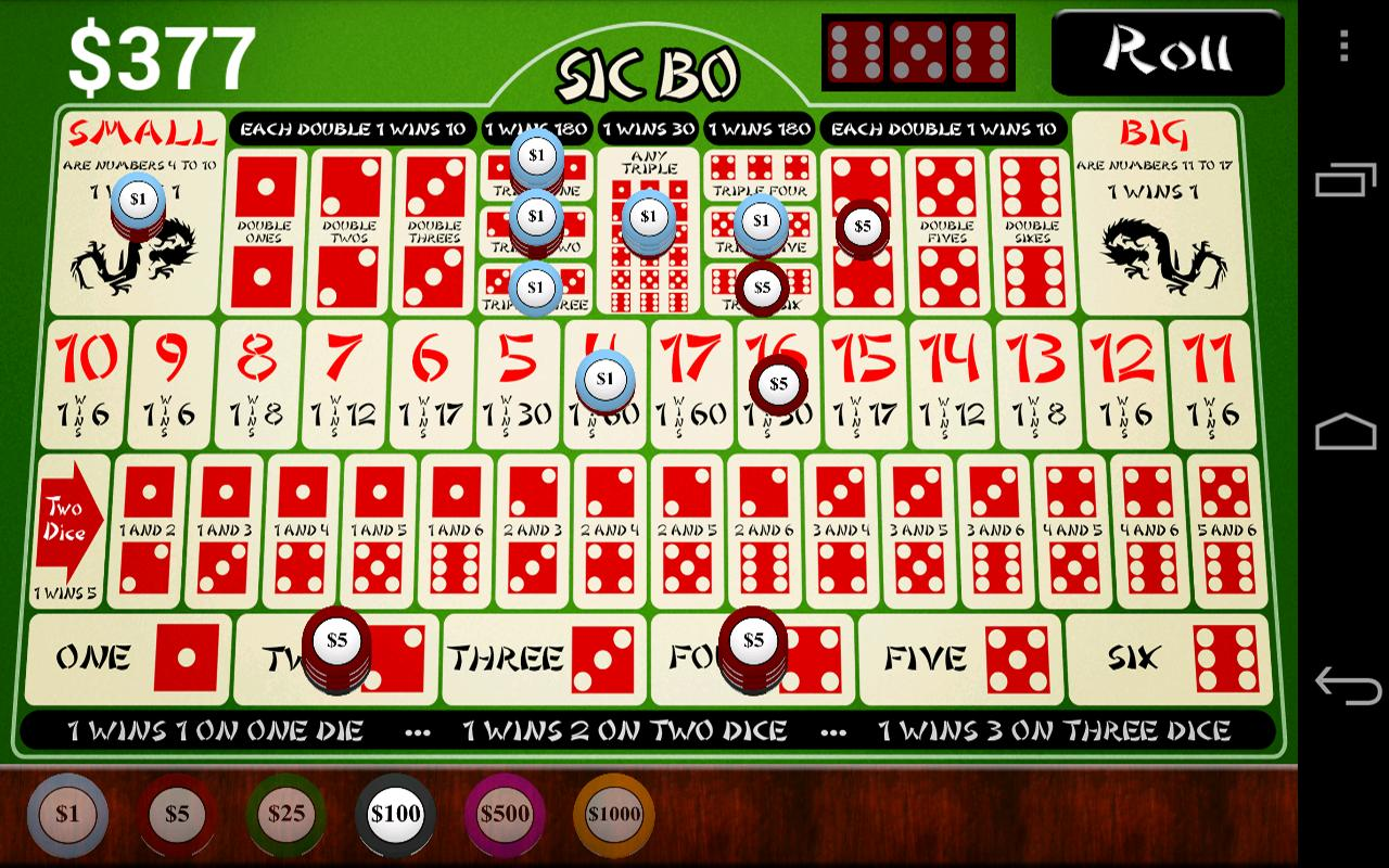 online casino play for fun sic bo