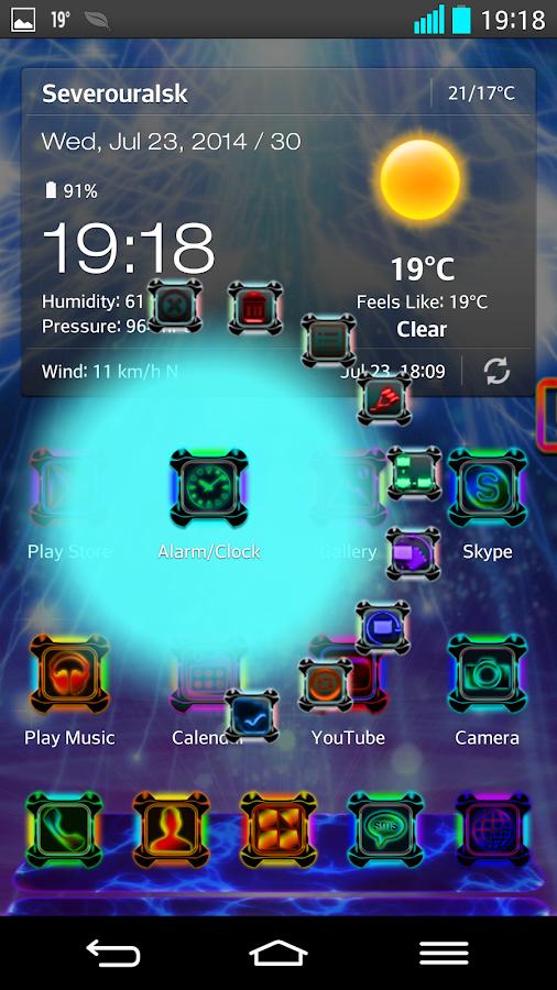 Next Launcher Theme ENERGYSHOW - screenshot